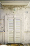 Entrance door with shutters to southern house. Entrance door with shutters to southern european house, Italy Stock Photos