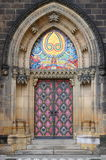 Entrance door of St. Peter and Paul church royalty free stock photography