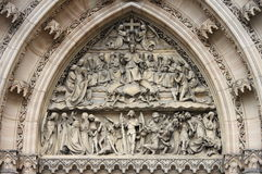 Entrance door of St. Peter and Paul church royalty free stock images