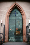 Entrance door St. Stephan`s church Mainz Royalty Free Stock Photography