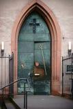 Entrance door St. Stephan`s church Mainz Stock Image