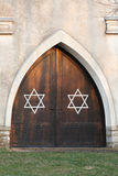 Entrance door with Stars of David Stock Photos