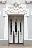 Entrance door stucco art nouveau Stock Images