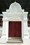 Entrance door of Thai temple Stock Photos