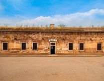 Entrance door to the Block A at Terezin Stock Photo