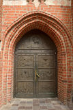 Entrance door to the Cathedral Church in Bydgoszcz, Poland Stock Image