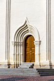 The entrance door to the church Royalty Free Stock Images