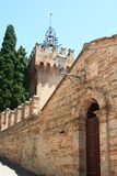 Entrance door to enter a Castle in the country, Italy Stock Photo