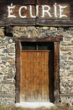 Entrance door to a horse stable Royalty Free Stock Photo