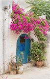 Entrance door to the Mediterranean house Stock Photography