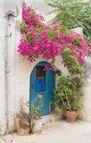 Entrance door to the Mediterranean house Stock Photography