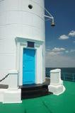 Entrance door to old Vorontsov Lighthouse in Odessa bay, Ukraine Stock Image