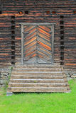 Entrance Door to Petajavesi Old Church, Finland. Entrance door and stairs to Petajavesi Old Church, Finland royalty free stock image