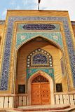 Entrance door to Saida khawla mosque in Baalbek in Lebanon. The shrine of Sayyida Khawla, the daughter of Imam Hussein and great granddaughter of Prophet Royalty Free Stock Photography