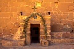 Saint Catherine`s Monastery, Mount Sinai, Egypt. This is the entrance door to Saint Catherine`s Monastery, Mount Sinai, Egypt Stock Image