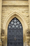 Entrance door to St Dunstan's Cathedral in Charlottetown Stock Photo