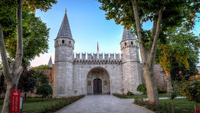 Entrance door to Topkapi Palace in Istanbul Turkey Royalty Free Stock Photos