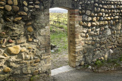 Entrance Door To Vineyard Royalty Free Stock Photography