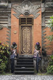 Entrance door Ubud Palace, Bali stock images