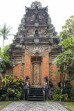Entrance door Ubud Palace, Bali royalty free stock images