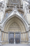 Entrance Door of Westminster Abbey, Westminster, London Stock Images