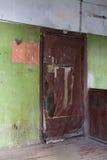 Entrance door of Yaroshenko House in Moscow Stock Photos