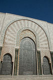 The entrance doors of the El Hassam II Mosque Stock Photos