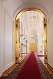 Entrance doors in Georgievsky hall. Russia, Moscow, Grand Kremlin Palace - historical old building built from 1837 to 1849, at the present time the ceremonial Stock Photos
