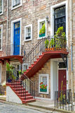 Entrance doors with stairs Stock Photos