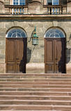 Entrance doors to an old castle Royalty Free Stock Image