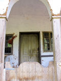 Entrance doors to an old, mountain house in Serbia Stock Images
