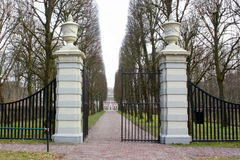 Entrance and driveway. Of the Menkemaborg Stock Images