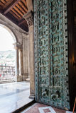 Entrance of Duomo di Monreale in Sicily Royalty Free Stock Photography