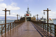 Entrance of Ege and Piri Reis Museum Ships is a naval museum Royalty Free Stock Photos