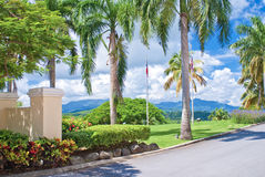 Entrance of el conquistadore resort Stock Photos