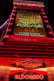 Entrance of the Eldorado Casino in Reno at night Stock Photos
