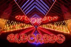 Entrance of the Eldorado Casino in Reno at night Stock Photo