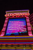 Entrance of the Eldorado Casino in Reno at night Royalty Free Stock Images