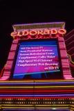Entrance of the Eldorado Casino in Reno at night Royalty Free Stock Images