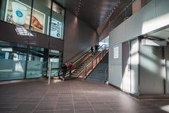 Subway / metro / underground station Amsterdam Noord, Nederland stock photography