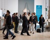 Entrance at Esxence 2014 in Milan, Italy Stock Photos
