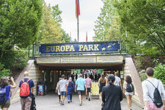 Entrance of Europa Park in Rust, Germany. Stock Photography