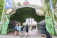 Entrance of Europa Park in Rust, Germany. Royalty Free Stock Image