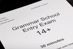 Entrance exam paper Royalty Free Stock Photography