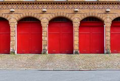 Entrance and exit of the fire department. Entrance and exit to the parking garage of the Berlin fire brigade royalty free stock images