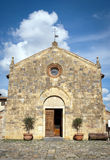 The Entrance Facade of Chapel. In Italy (Tuscany&#x29 royalty free stock photo