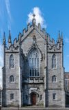 Entrance facade of church at The Castle, Dublin Ireland. Royalty Free Stock Images