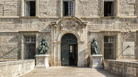Entrance of Faculty of Medicine Montpellier Royalty Free Stock Images