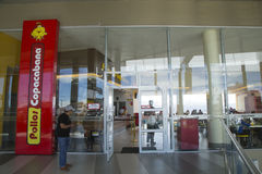 Entrance of the fast food restaurant Pollos Copacabana Royalty Free Stock Image