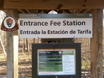 Entrance fee station Royalty Free Stock Images